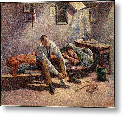 Morning, Interior Metal Print by Maximilien Luce