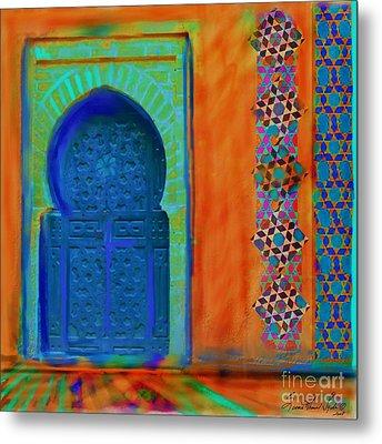 Morroccon Door Metal Print by Seema Sayyidah