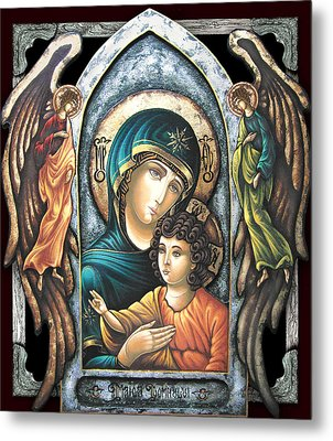 Mother Of God Metal Print by Iosif Ioan Chezan