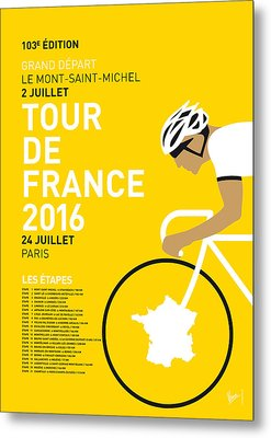 My Tour De France Minimal Poster 2016 Metal Print by Chungkong Art