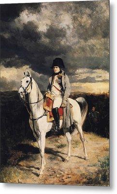 Napoleon Bonaparte On Horseback Metal Print by War Is Hell Store