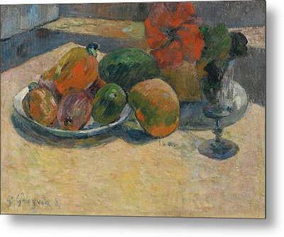 Nature Morte Aux Mangos Metal Print by MotionAge Designs