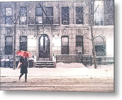 New York City Snow Metal Print by Vivienne Gucwa