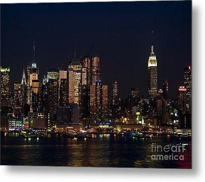 New York Skyline View Metal Print by Andrew Kazmierski