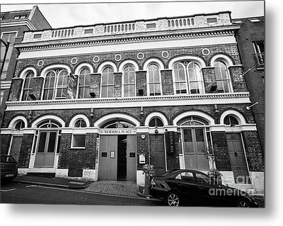 newhall place and the vaults bar and restaurant Birmingham UK Metal Print by Joe Fox