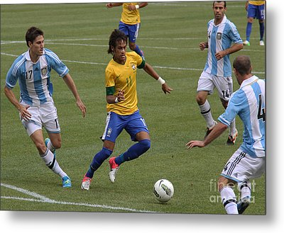 Neymar Doing His Thing II Metal Print by Lee Dos Santos