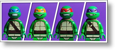 Ninja Turtles Metal Print by Samuel Whitton
