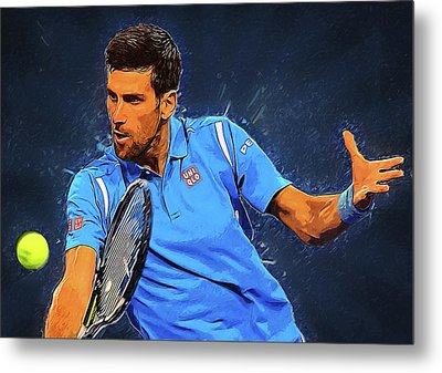 Novak Djokovic Metal Print by Semih Yurdabak