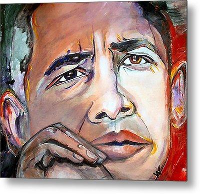 Obama II Metal Print by Valerie Wolf