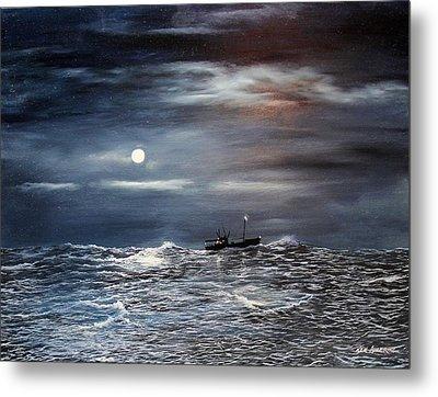 Ocean Moon Metal Print by Ken Ahlering