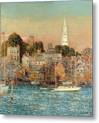 October Sundown Metal Print by Childe Hassam