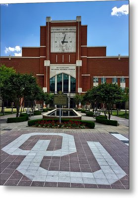 Oklahoma Memorial Stadium Metal Print by Center For Teaching Excellence
