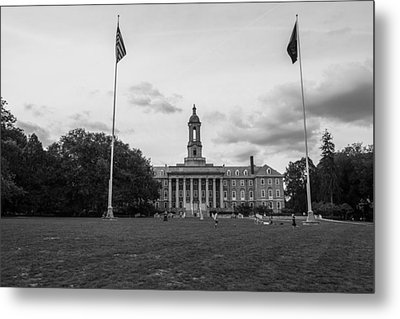 Old Main Penn State Black And White  Metal Print by John McGraw