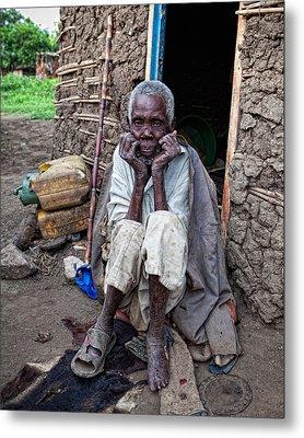 Old Man Africa Metal Print by Jennifer K