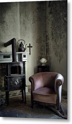 Old Sofa Waiting - Abandoned House Metal Print by Dirk Ercken