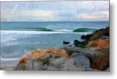 Outrunning The Tube Metal Print by Ron Regalado