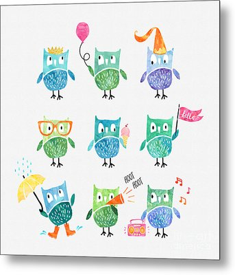 Owls Are A Hoot Metal Print by Natalie Kinnear