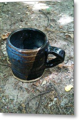 Petite Tea Cup Metal Print by Emily Osborne