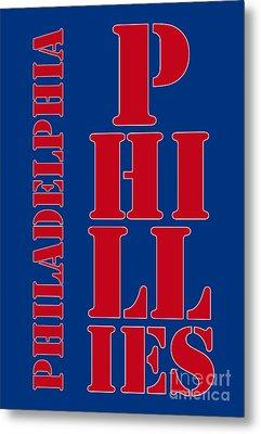 Philadelphia Phillies Typography Metal Print by Pablo Franchi