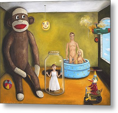 Playroom Nightmare 2 Metal Print by Leah Saulnier The Painting Maniac