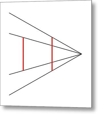 Ponzo's Illusion Metal Print by