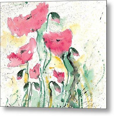 Poppies 10 Metal Print by Ismeta Gruenwald