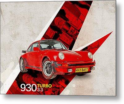 Porsche 930 Turbo 3.3 Metal Print by Yurdaer Bes