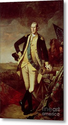 Portrait Of George Washington Metal Print by Charles Willson Peale