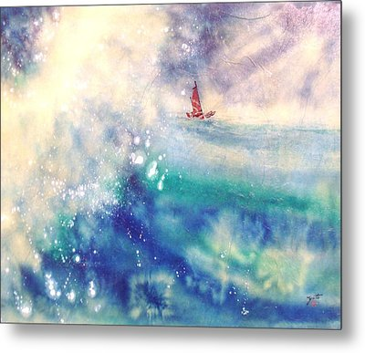 Powerful Sailing Metal Print by John YATO