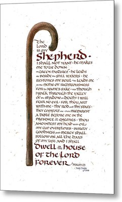 Psalm 23 Metal Print by Judy Dodds