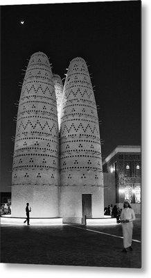 Qatar Cultural Village Metal Print by Paul Cowan