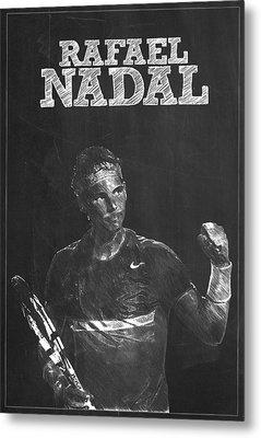 Rafael Nadal Metal Print by Semih Yurdabak