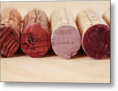 Red Wine Corks Metal Print by Frank Tschakert
