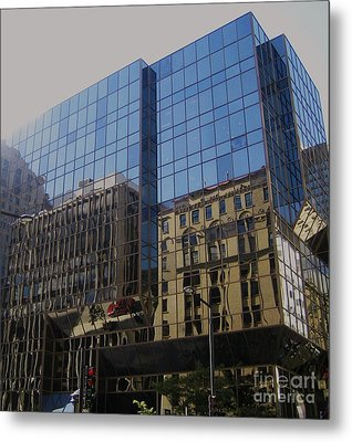 Reflections Of Montreal Metal Print by Reb Frost
