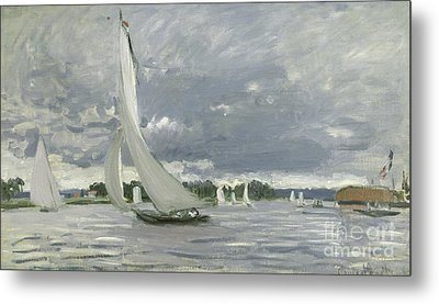 Regatta At Argenteuil Metal Print by Claude Monet