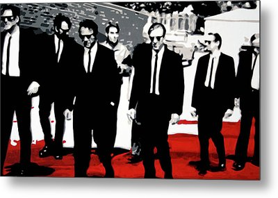Reservoir Dogs Metal Print by Luis Ludzska