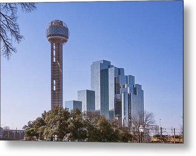 Reunion Tower Dallas II Metal Print by Joan Carroll
