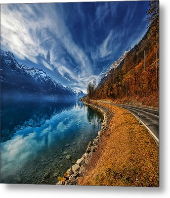 Road To No Regret Metal Print by Philippe Sainte-Laudy