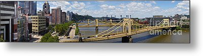 Roberto Clemente Bridge And Pnc Park Pittsburgh Pennsylvania Metal Print by Amy Cicconi