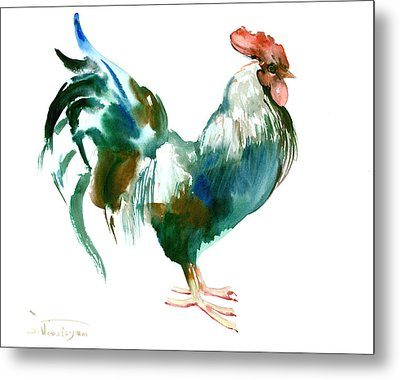 Rooster Metal Print by Suren Nersisyan