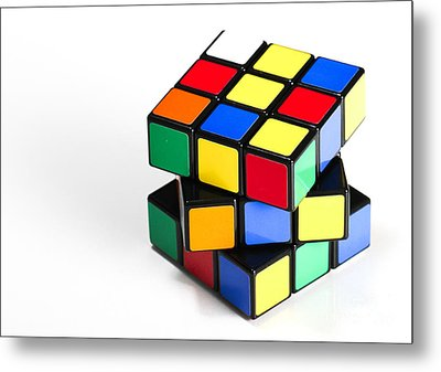 Rubiks Cube Metal Print by Photo Researchers