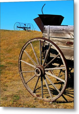 Rustic Wagon Metal Print by Perry Webster