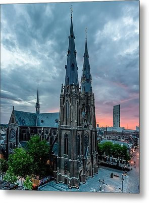 Saint Catherina Church In Eindhoven Metal Print by Semmick Photo
