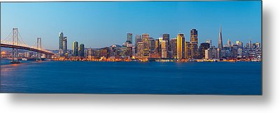 San Francisco Financial District Metal Print by Panoramic Images