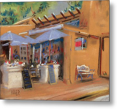 Santa Fe Cafe Metal Print by Donald Maier
