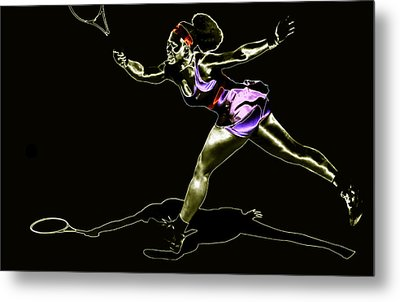 Serena Williams Extended Metal Print by Brian Reaves