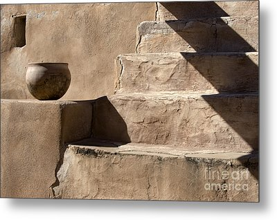Shadows Of Tumacacori Metal Print by Sandra Bronstein
