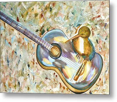 Shall Strum The Strings Unto The Lord O Metal Print by Thecla Correya