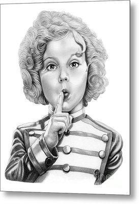 Shirley Temple Metal Print by Murphy Elliott