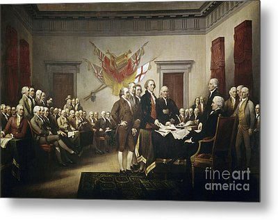 Signing The Declaration Of Independence Metal Print by John Trumbull